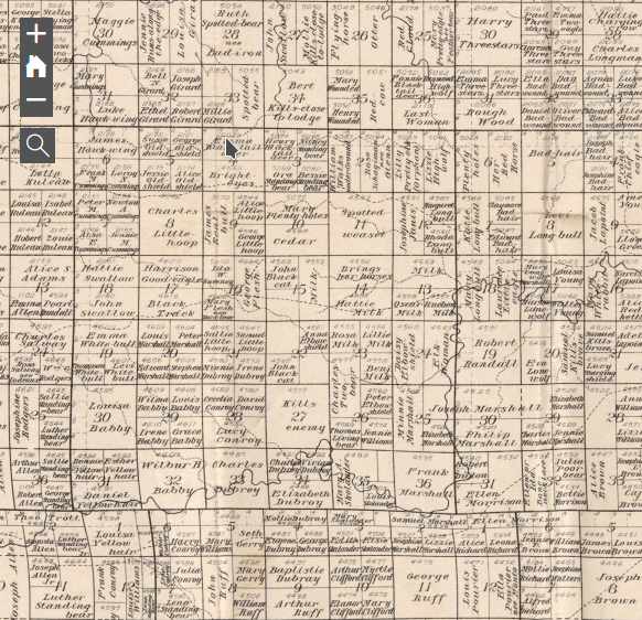Charles H. Bates Map Bennett County