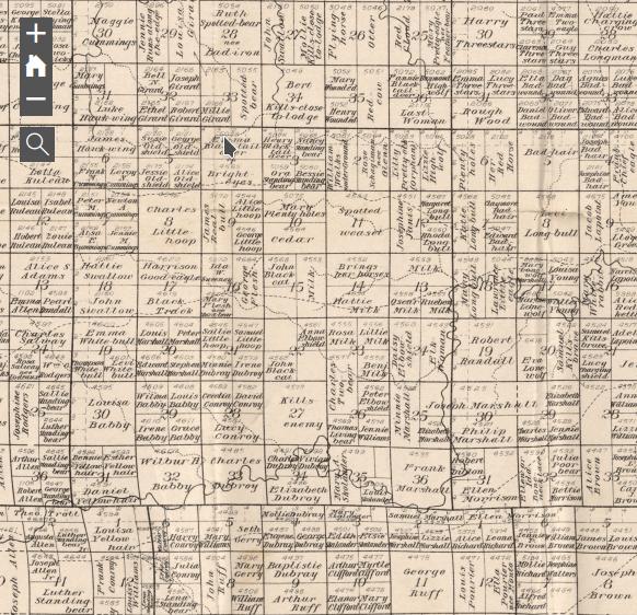 Charles H. Bates Map Bennett County